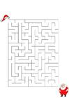 Image labyrinthe Père Noël