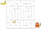 Image labyrinthe singe et banane