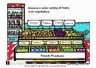 Image légumes et fruits frais