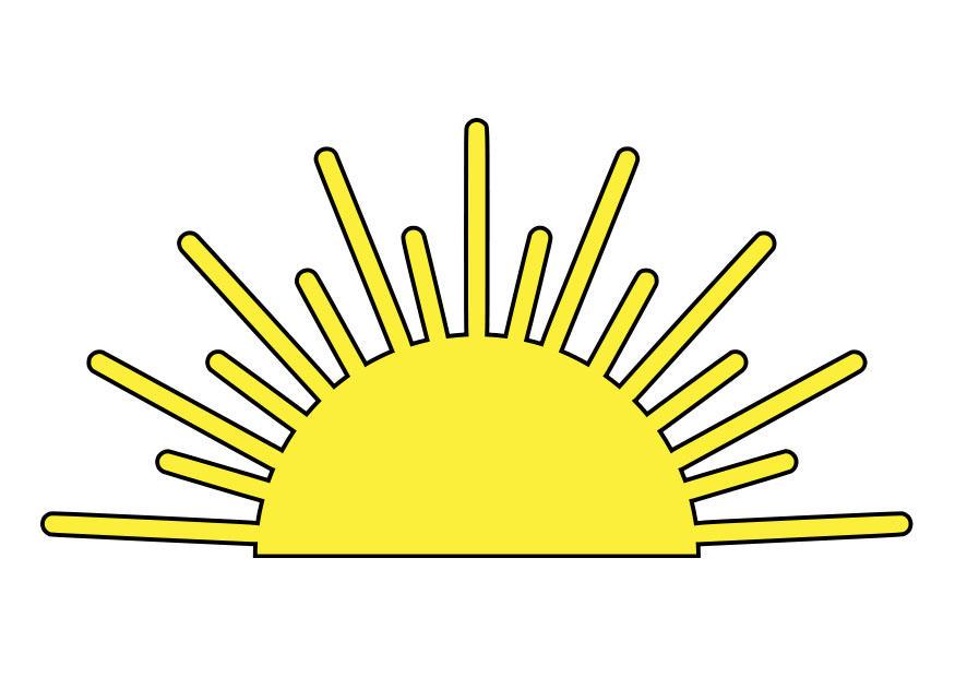 Image lever du soleil dessin 27996 - Dessin du soleil ...