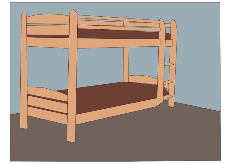 image lit superpos dessin 27436. Black Bedroom Furniture Sets. Home Design Ideas
