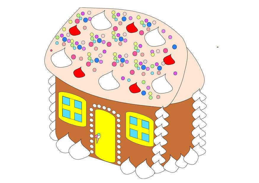 Image maison de pain d 39 pice dessin 28760 for Pain d epice maison
