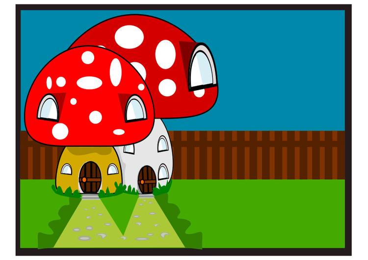 Image maison de schtroumpf dessin 29927 images - Schtroumpf maison ...