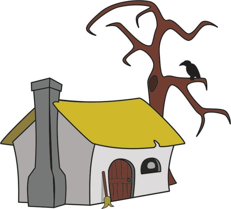 Image maison de sorci re dessin 16194 - Image de sorciere ...