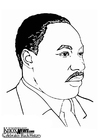 Coloriage Martin Luther King, Jr