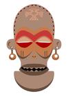 Image masque africain - Zaïre - Angola