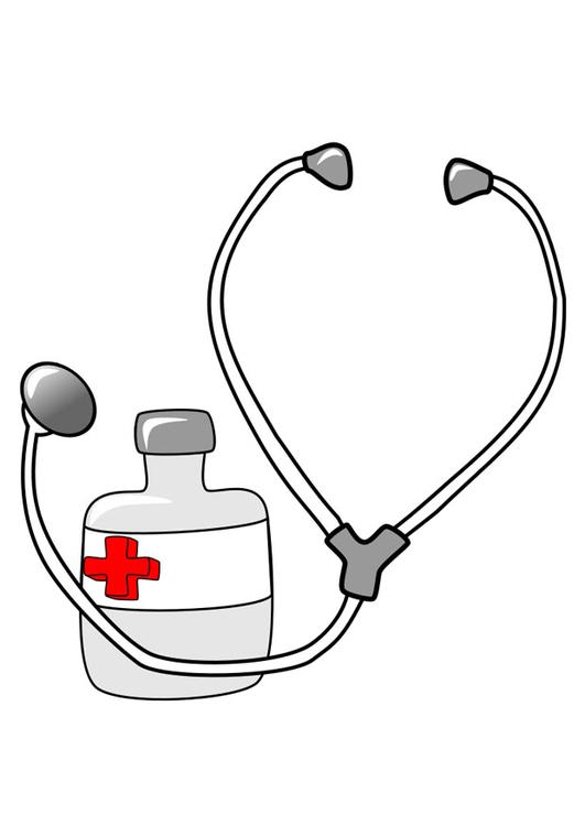 Dessin Stéthoscope image médicament et stéthoscope - dessin 22373