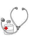 Image médicaments et stéthoscope