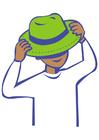 Image mettre son chapeau