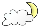 Image nuit nuageuse