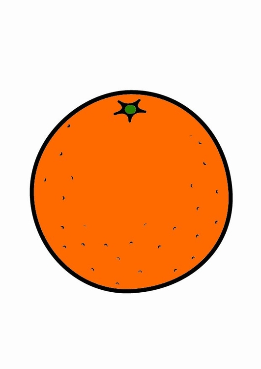 Image orange dessin 23206 - Orange dessin ...