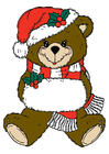 Image ours de Noël