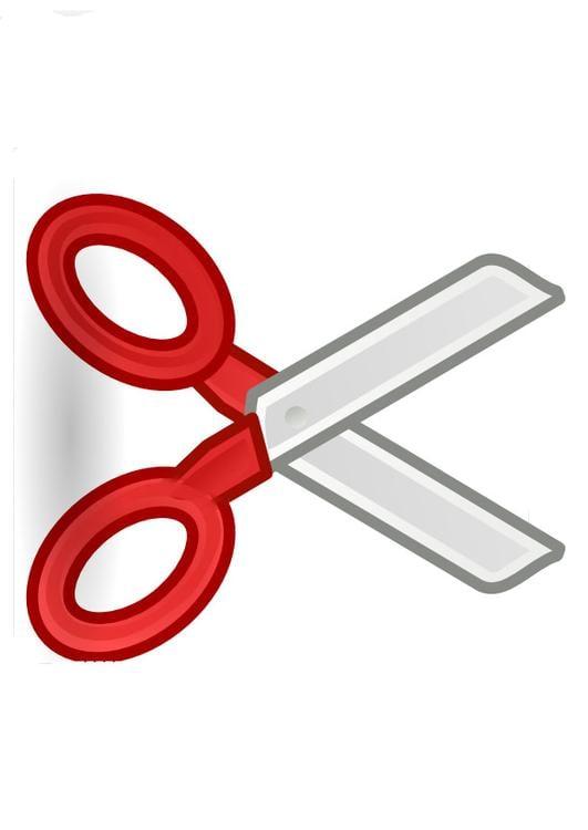 Image paire de ciseaux dessin 9934 - Un ciseau ou des ciseaux ...