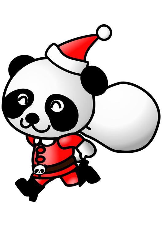 Image panda en costume de no l dessin 20559 - Coloriage panda de noel ...