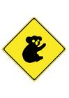 Image panneau de signalisation - koala