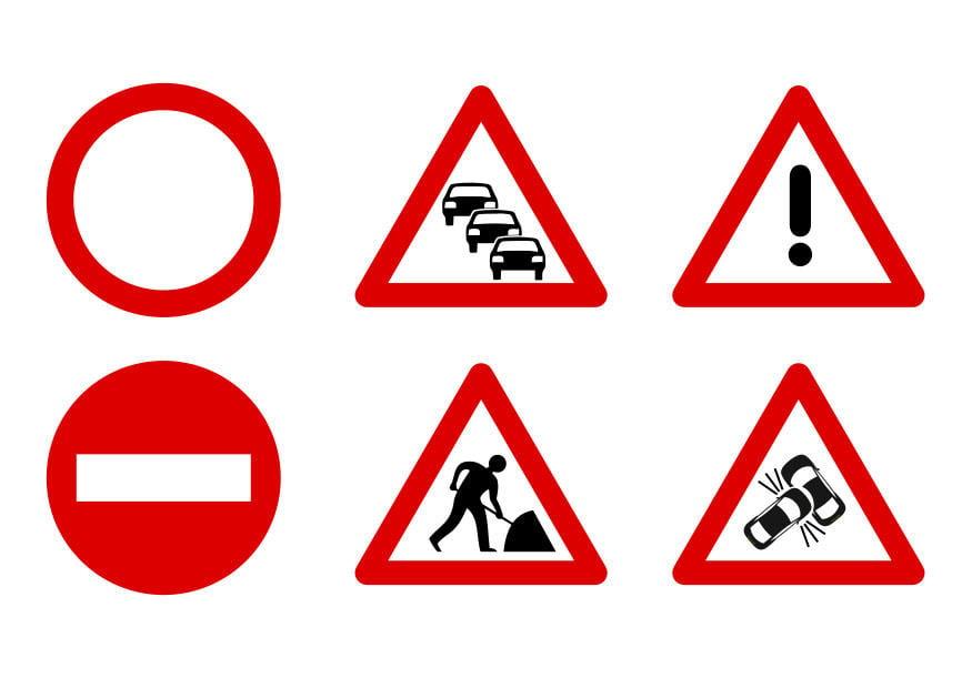 Exceptionnel Image panneaux de signalisation - Dessin 27523 KR01