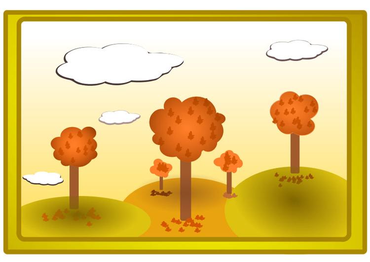 Image paysage d 39 automne dessin 20542 images - Paysage d automne dessin ...
