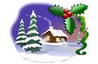 Image paysage de Noël