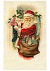 Image Père Noël avec jouets