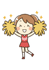 Image pom-pom girl