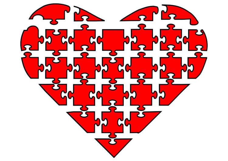Image puzzle de coeur dessin 21134 - Puzzle dessin ...