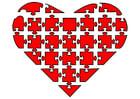 Image puzzle de coeur