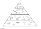 Coloriage pyramide alimentaire