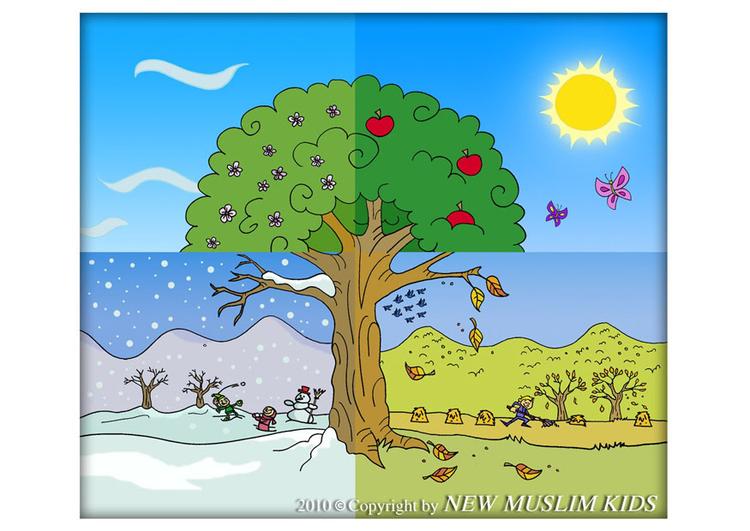 Image quatre saisons dessin 22066 - Dessin 4 saisons ...