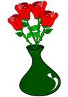 Image roses dans un vase