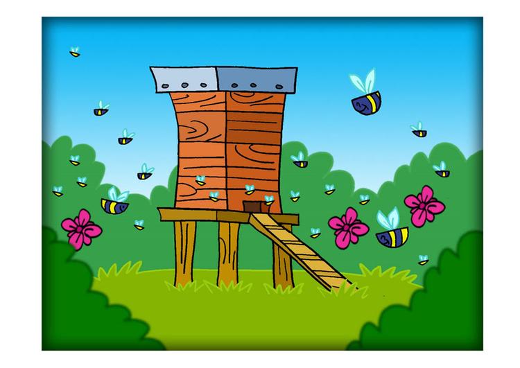 Image ruche dessin 22247 - Dessin de ruche d abeille ...