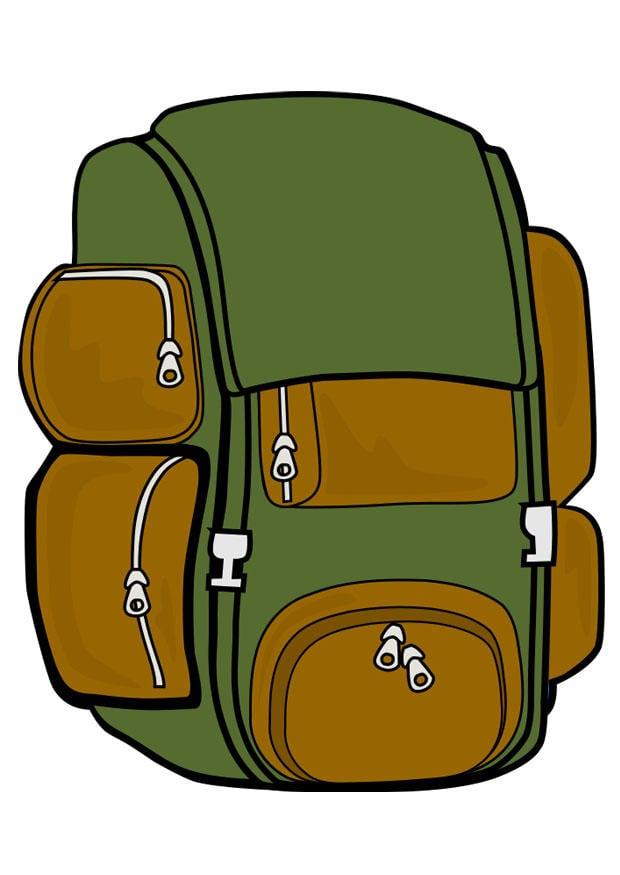 Image sac dos dessin 22184 - Coloriage sac a dos ...