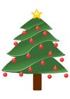 Image sapin de Noël avec boules