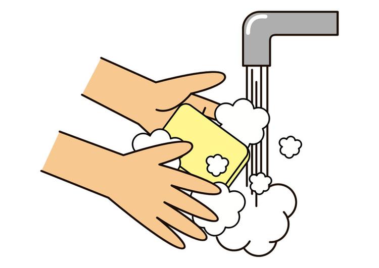 Image se laver les mains dessin 30345 - Coloriage lavage des mains ...
