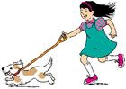 Image se promener avec le chien