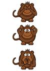 Image singes de la sagesse