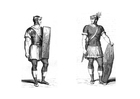 Coloriage soldat romain