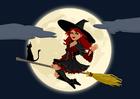Image sorcière halloween