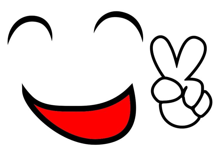 Image sourire de paix - Images Gratuites à Imprimer