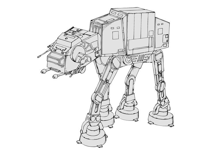 Afbeeldingen Kleurplaten Robot Image Star Wars Dessin 28862 Images