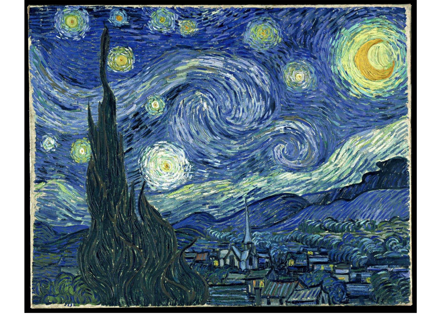 Image starry night vincent van gogh dessin 14768 - Coloriage van gogh ...