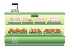 Image supermarché - comptoir de viande