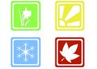 Image symboles des saisons