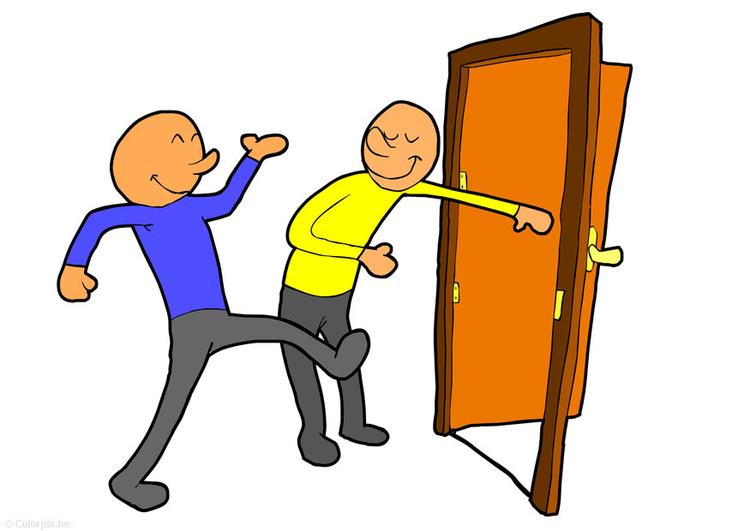 Image tenir la porte ouverte dessin 14755 for Porte ouverte dessin