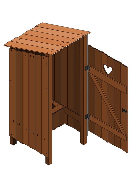 Image toilette ext rieure porte ouverte dessin 27794 for Porte ouverte dessin