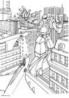 Coloriage manga - transformer