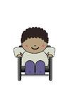 Image utilisateur de fauteuil roulant