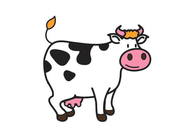 Dessin Vache Couleur Bricolage Maison Et Decoration