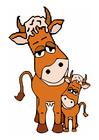 Image vache mère et veau