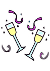 Image verre de champagne