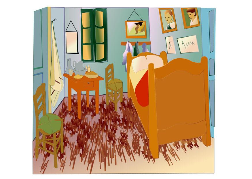 Belle Chambre Jaune Van Gogh ~ Idées de Design Maison et Idées de ...